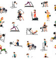 exercise equipment seamless pattern vector image