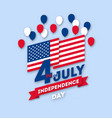 postcard paper art day on july 4 vector image