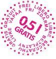 sale stamp gratis vector image