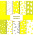 Set of seamless patterns and backgrounds for girls vector image