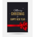 Merry Christmas and New Year Gold Glossy vector image