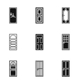 Types of doors icons set simple style vector image vector image
