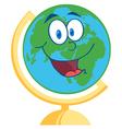 Desk Globe Cartoon Mascot Character vector image