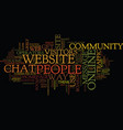 Establish your own online community to increase vector image