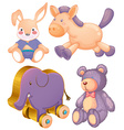 Animal toys vector image vector image