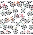 Bicycle Silhouette Seamless Pattern Background vector image