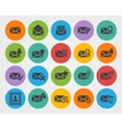 Flat Email icons set vector image