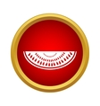 A slice of watermelon icon simple style vector image