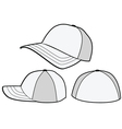 Baseball hat or cap template vector image