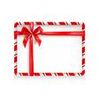 holiday stripe frame-05 vector image