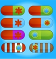 medic colored pills sign set isolated vector image