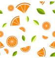 orange lemon on white background seamless vector image