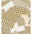 pattern patchwork vector image