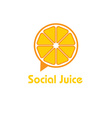 social juice concept design template vector image