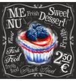 sweet dessert logo design template fresh vector image