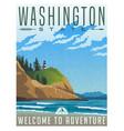 Washington travel poster vector image