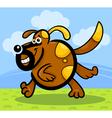 cartoon running dog or puppy vector image vector image