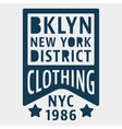 Brooklyn New York vintage stamp vector image