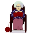 granny knit isolated on white vector image vector image