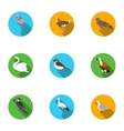 Bird set icons in flat style Big collection of vector image