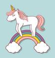 magical unicorn design vector image