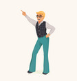 Dancing retro man vector image