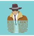 Detective silhouette poster vector image