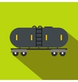 Railroad gasoline and oil tank flat icon vector image