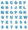 alphabet new style modern blue vector image