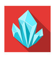 blue natural mineral icon in flat style isolated vector image