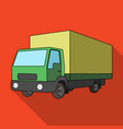 truck with awningcar single icon in flat style vector image
