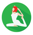 Woman doing yoga icon vector image