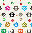 Seamless Cogs Background Gears Pattern vector image vector image