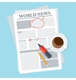 newspaper on table vector image
