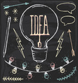Hand Drawn Chalk Idea Set vector image vector image