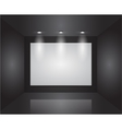 Gallery Interior with empty frames on wall vector image vector image
