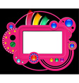 Abstract pink web site vector image
