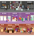People shopping in a mall concept Store Interior vector image