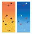 Air travel 2 vector image