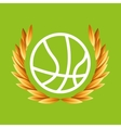 basketball sport olympic blue badge vector image