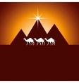 pyramids desert landscape icon vector image
