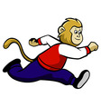 Running Monkey vector image
