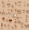 Set Of Business Icons and people vector image