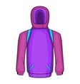 Snowboarder jacket icon cartoon style vector image