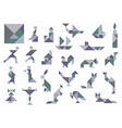 Tangram objects vector image