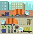 Trash recycling and removal vector image