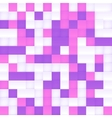 White pink and purple squared mosaic vector image