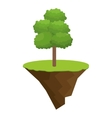 icon tree bonsai design vector image