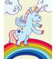 hand drawn unicorn rainbow vector image