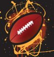 American football splat vector image